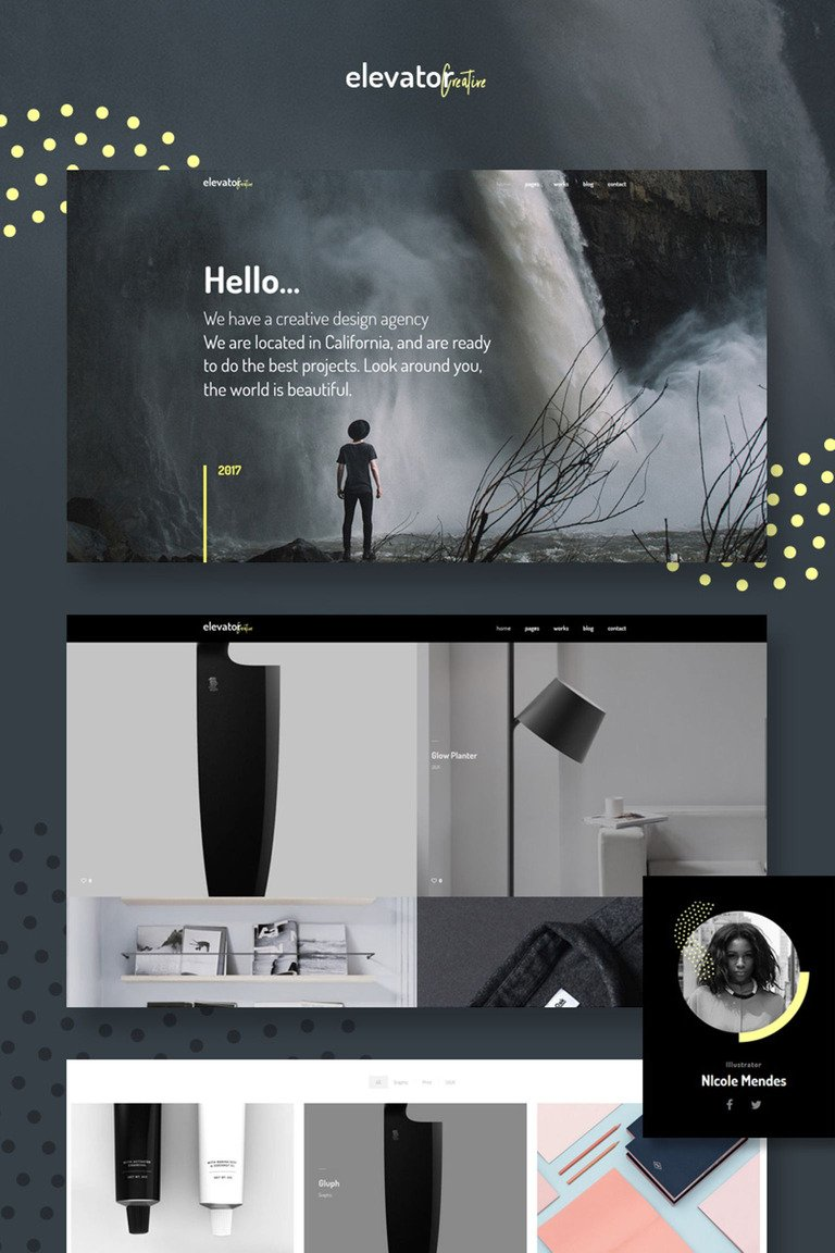 Elevator - Creative Corporate Portfolio WordPress Theme Big Screenshot