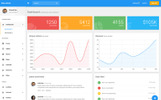 Bootstrap Admin Template over Elektronica