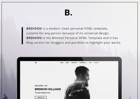 Brendon - Minimal Personal Portfolio