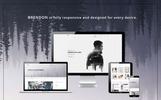 Responsive Website template over Persoonlijke pagina