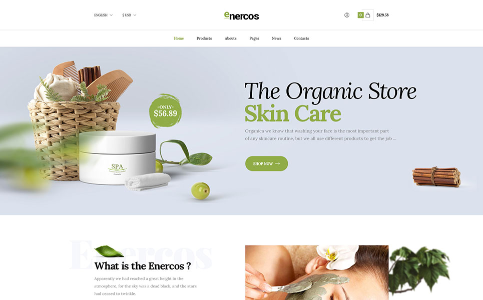 Enercos Single Product ECommerce PSD Template - Single product ecommerce template