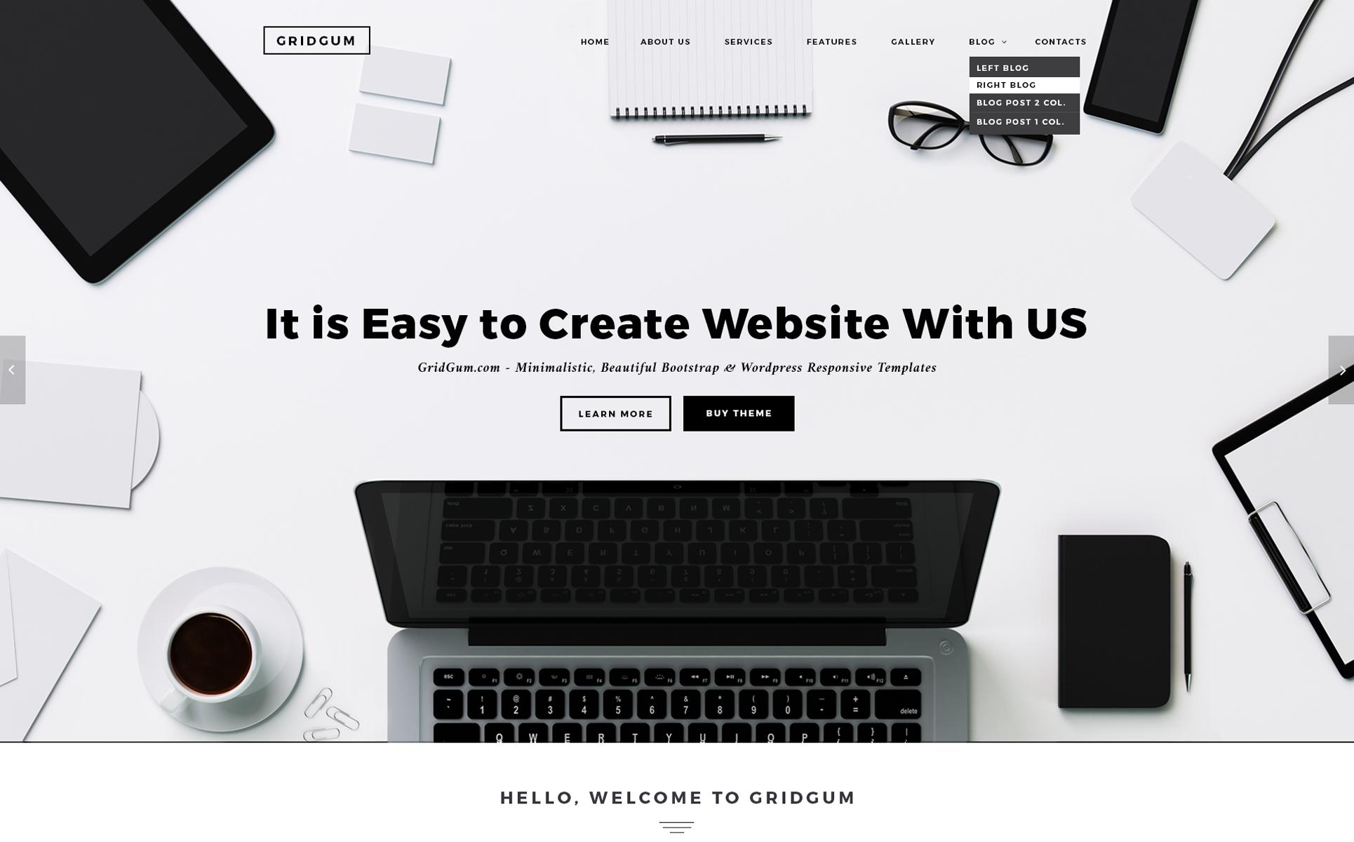 black white labels website template 65334
