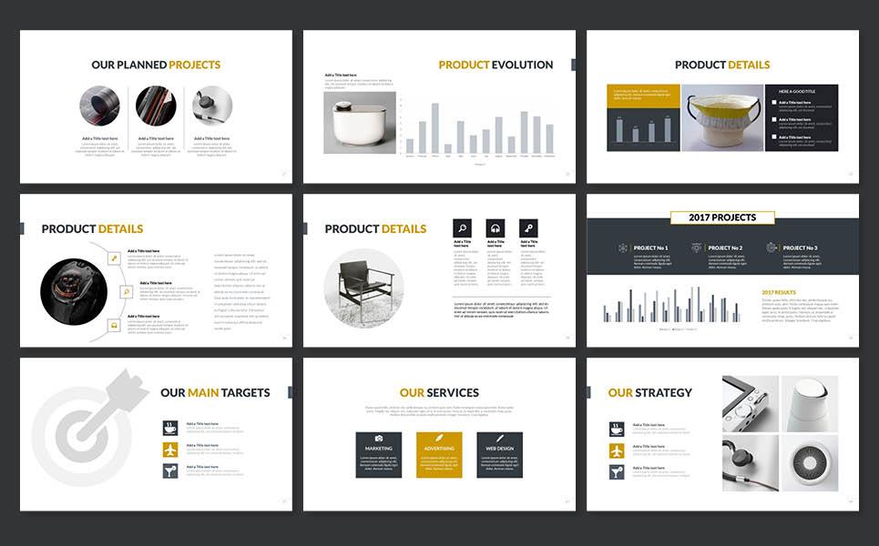 PowerPoint Vorlage #65152 für Elektronik