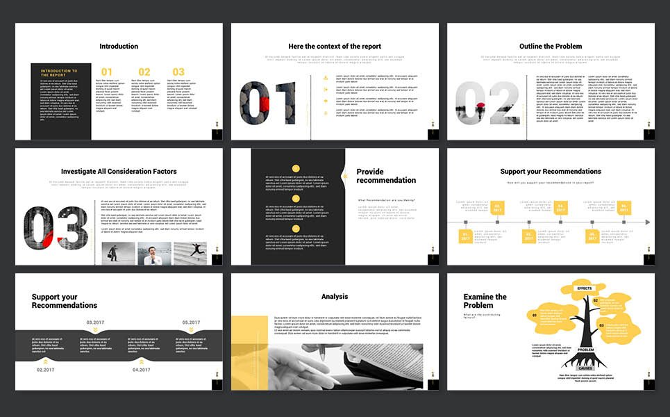 2017 case study report powerpoint template 65153