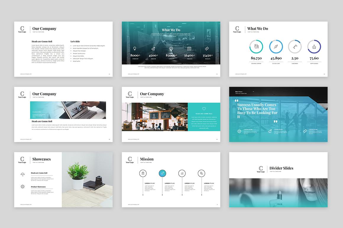 PowerPoint Vorlage #64133 für Marketing-Agentur