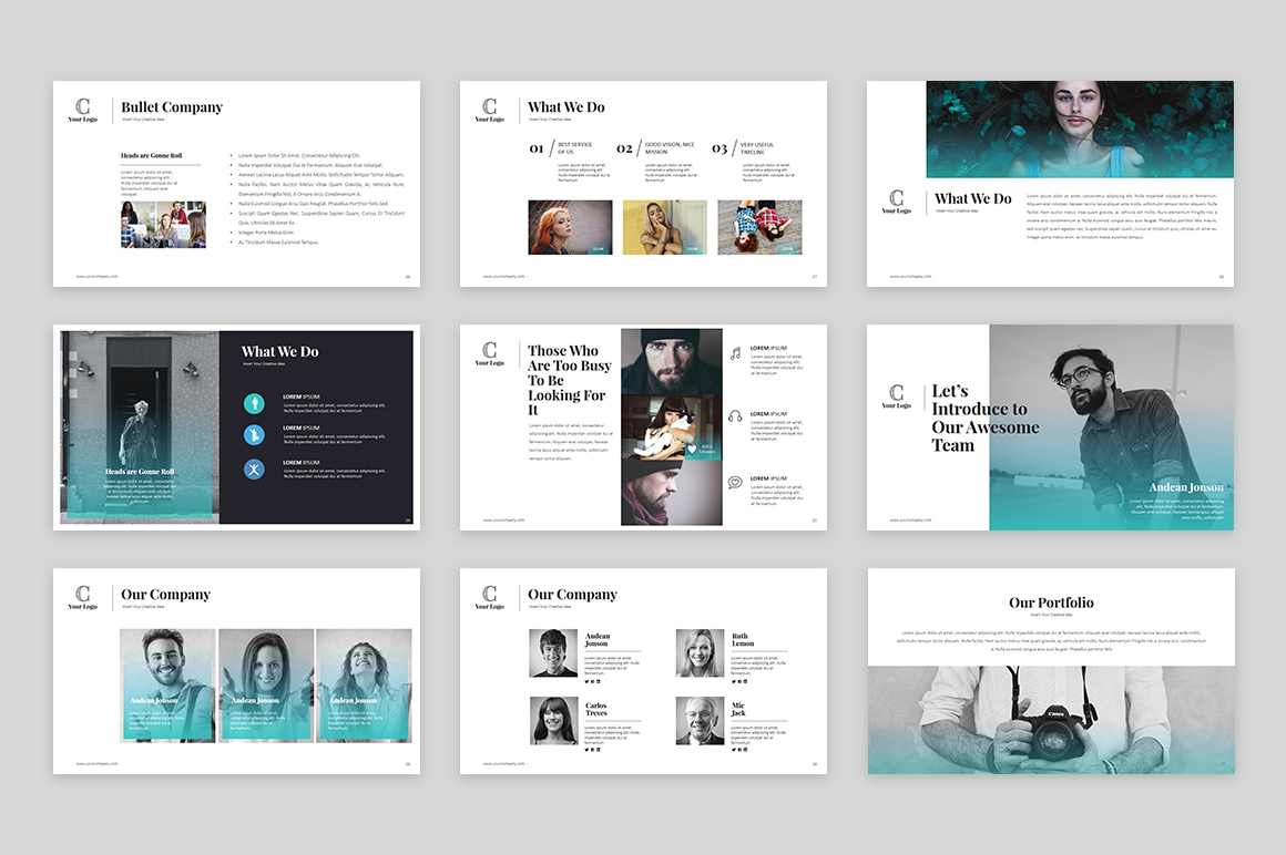 cardigan powerpoint template powerpoint template 64133