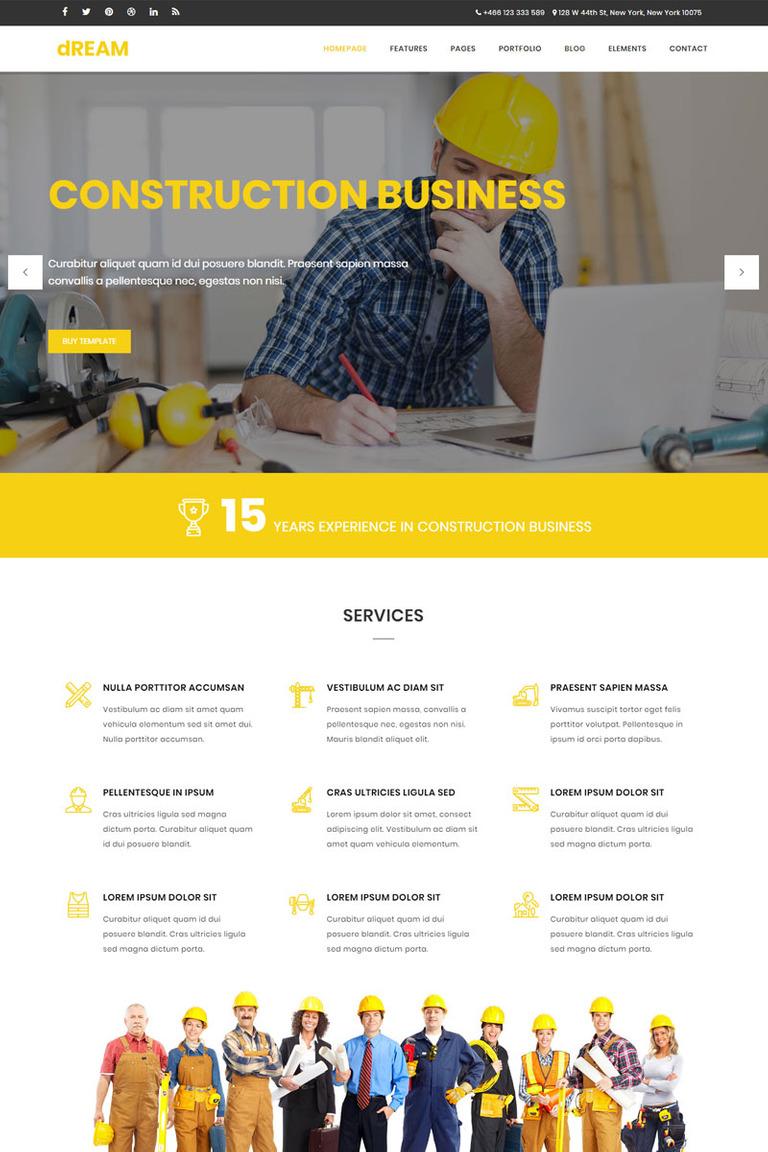 Website Vorlage #65329 für Baufirma