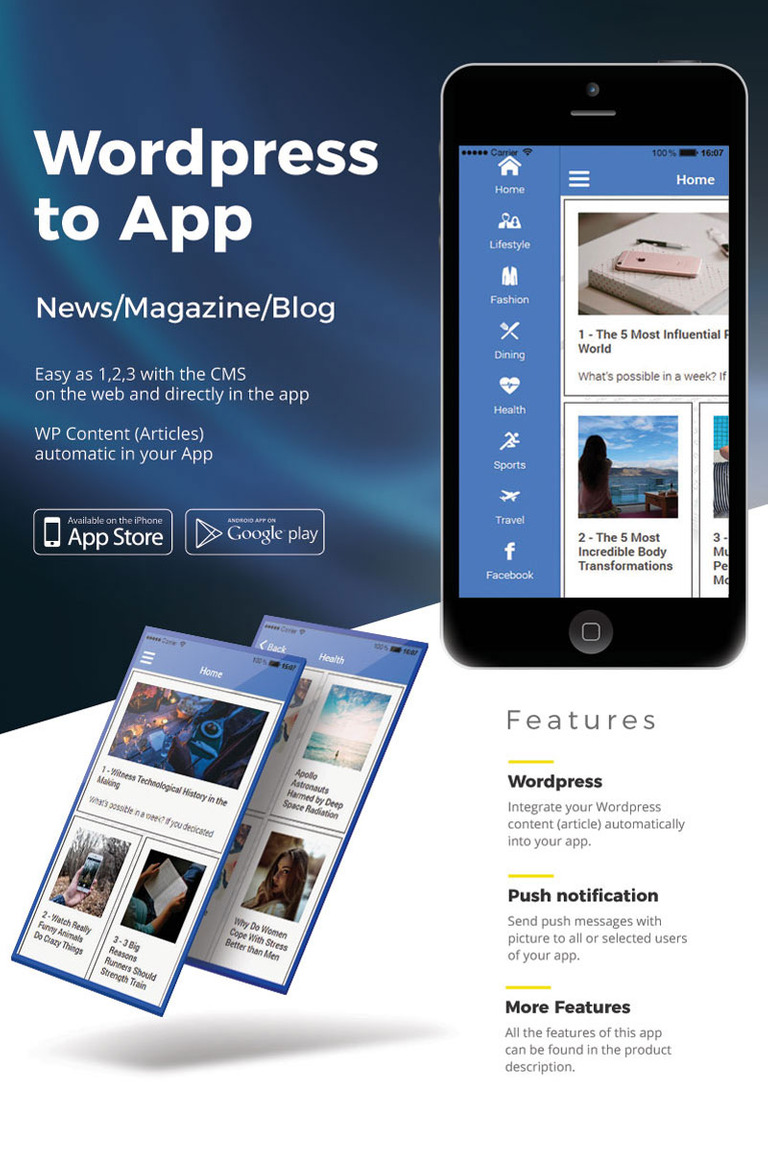 Wordpress News iOS & Android App Template #65139
