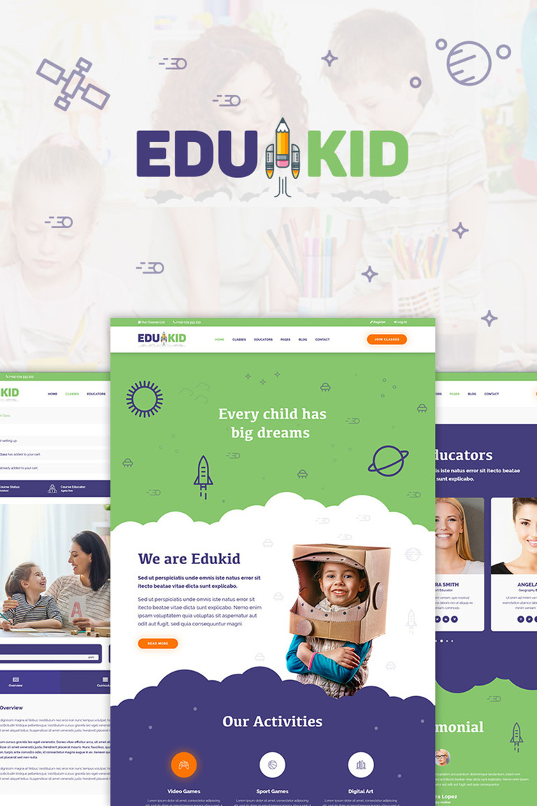 Edukid - Kindergarten & School Education WordPress Theme Big Screenshot