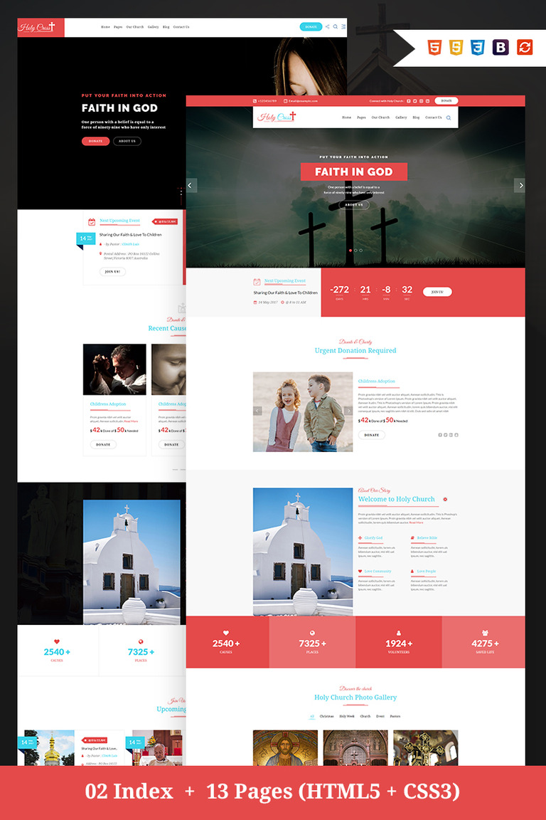 Holy Cross Charity Church Bootstrap Html Website Template 67191