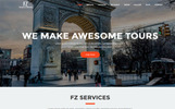 "HTML шаблон ""FZ - Tour & Travel Agency"""