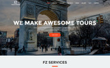 "Website Vorlage namens ""FZ - Tour & Travel Agency"""