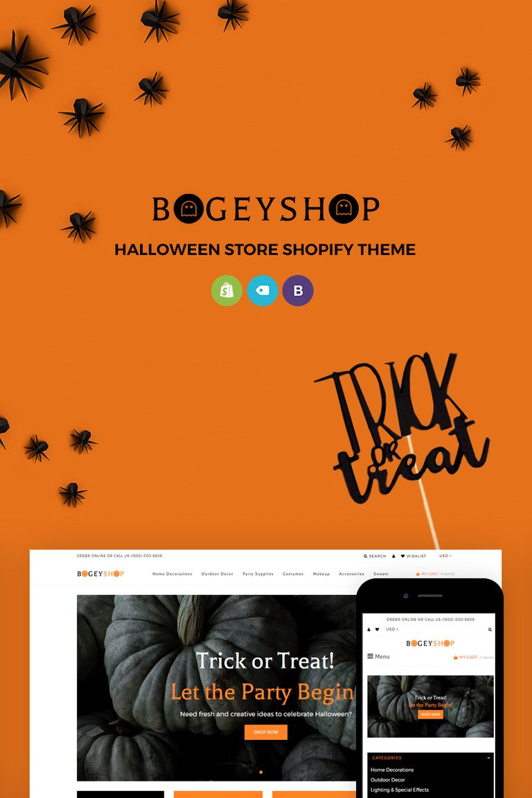bogey shop - elegant party supplies online store shopify theme #71816