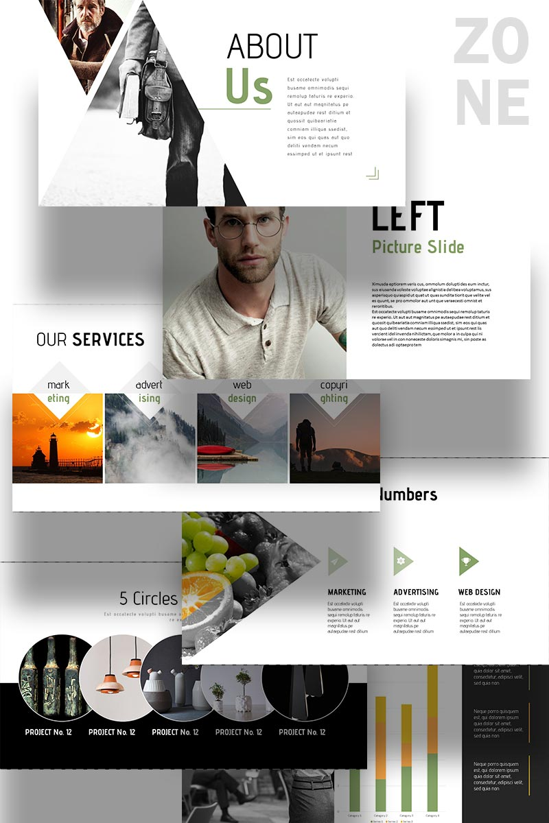 Zone PowerPoint Template #65222
