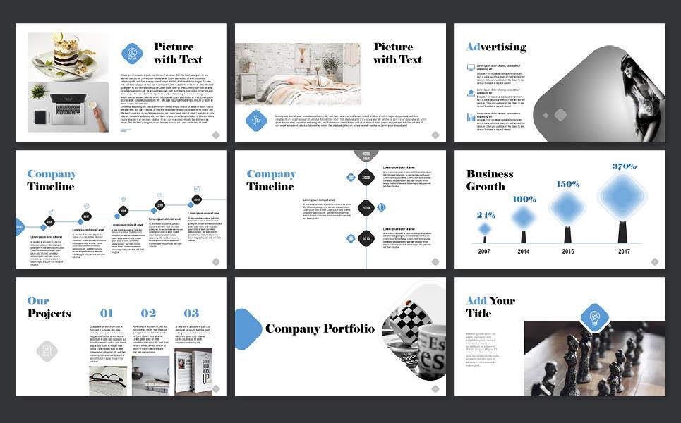 PowerPoint Vorlage #65257 für Immobilien