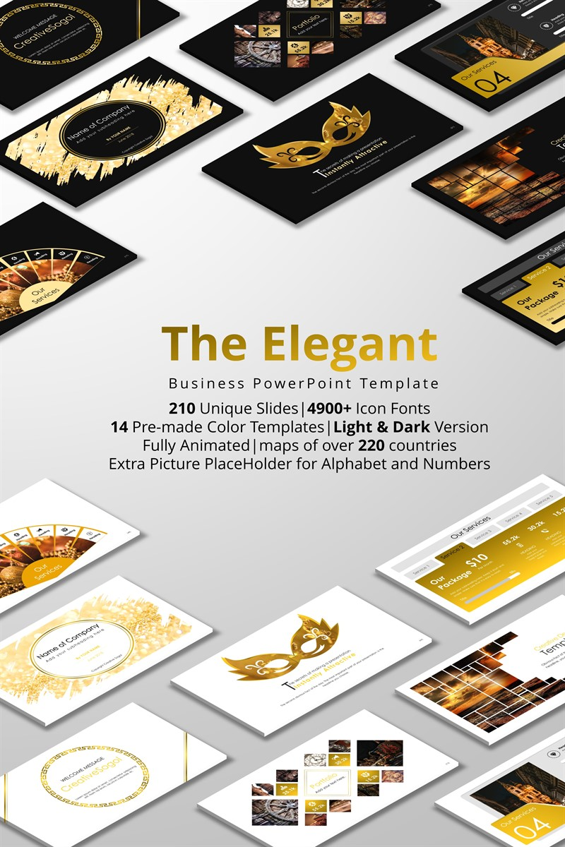 The Elegant PowerPoint Template #71863