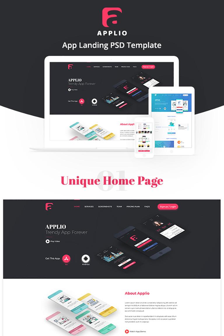 Applio - App Landing Page Template #72036