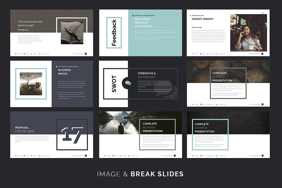 complete business keynote template big screenshot