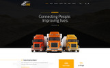 """Trucking - Logistics and Transportation HTML"" Responsive Website template"