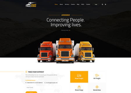 Trucking - Logistics and Transportation HTML