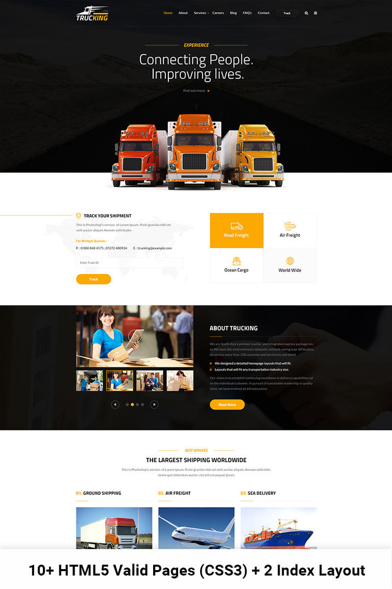 Trucking Logistics And Transportation Html Website Template 65432