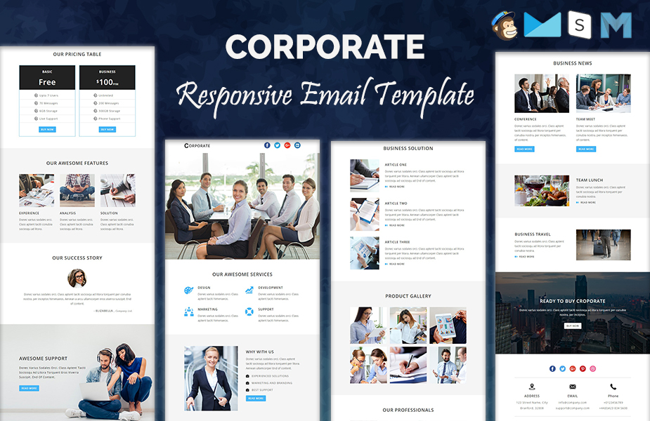 Corporate - Responsive Newsletter Template Newsletter Template #64368