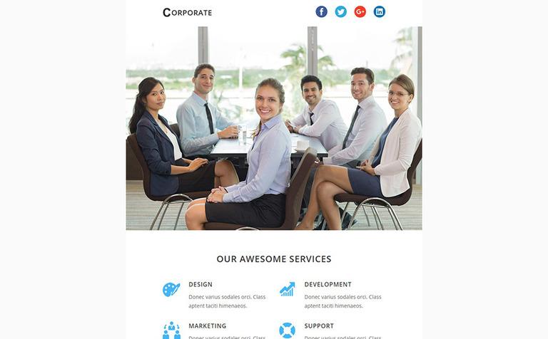 CORPORATE - Responsive Newsletter Template Newsletter Template #64368