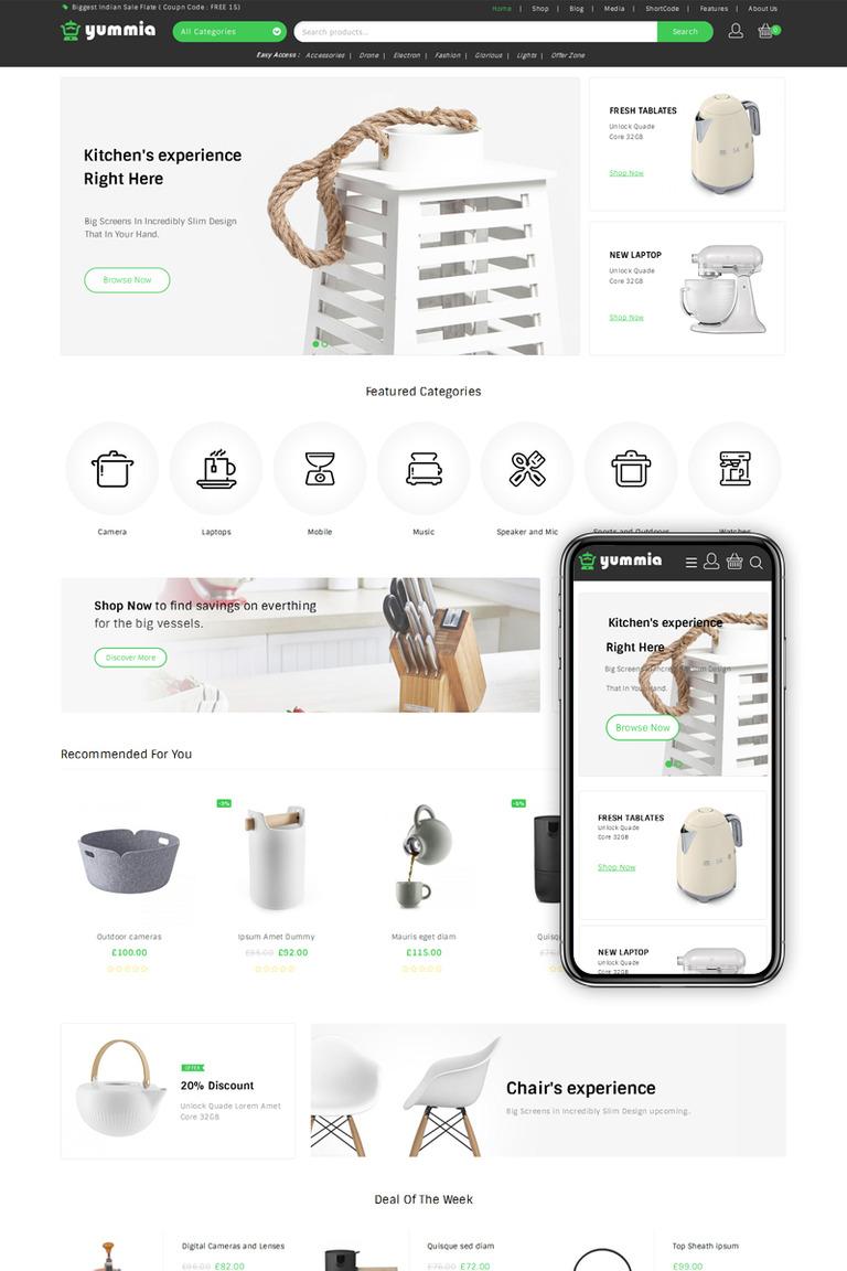 Yummia Multi Store WooCommerce Theme New Screenshots BIG