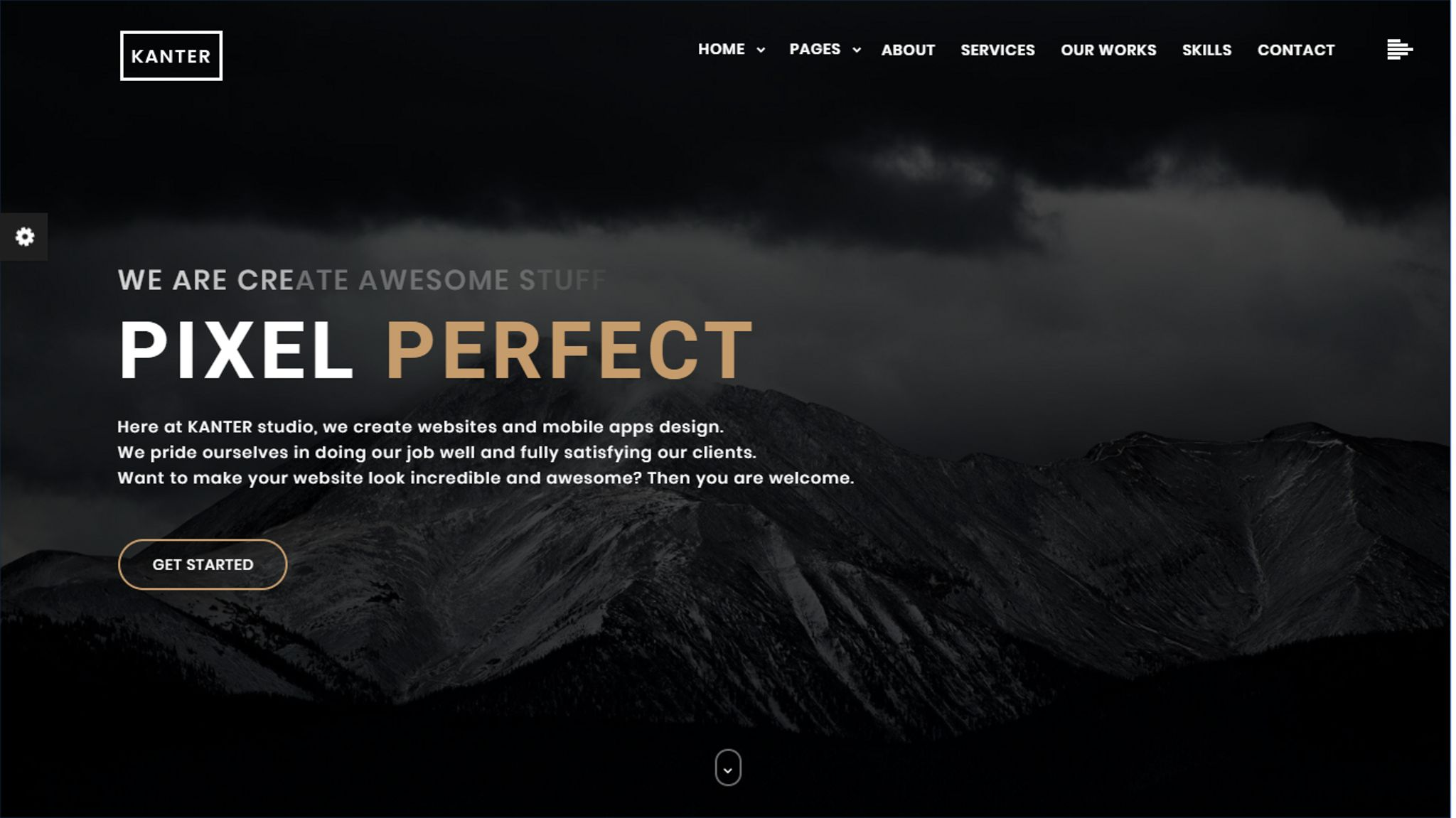 Kanter - Creative Responsive Minimalistic HTML Website Template #65438