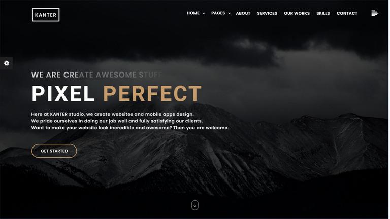 Kanter - Creative Responsive Minimalistic HTML Website Template #65438