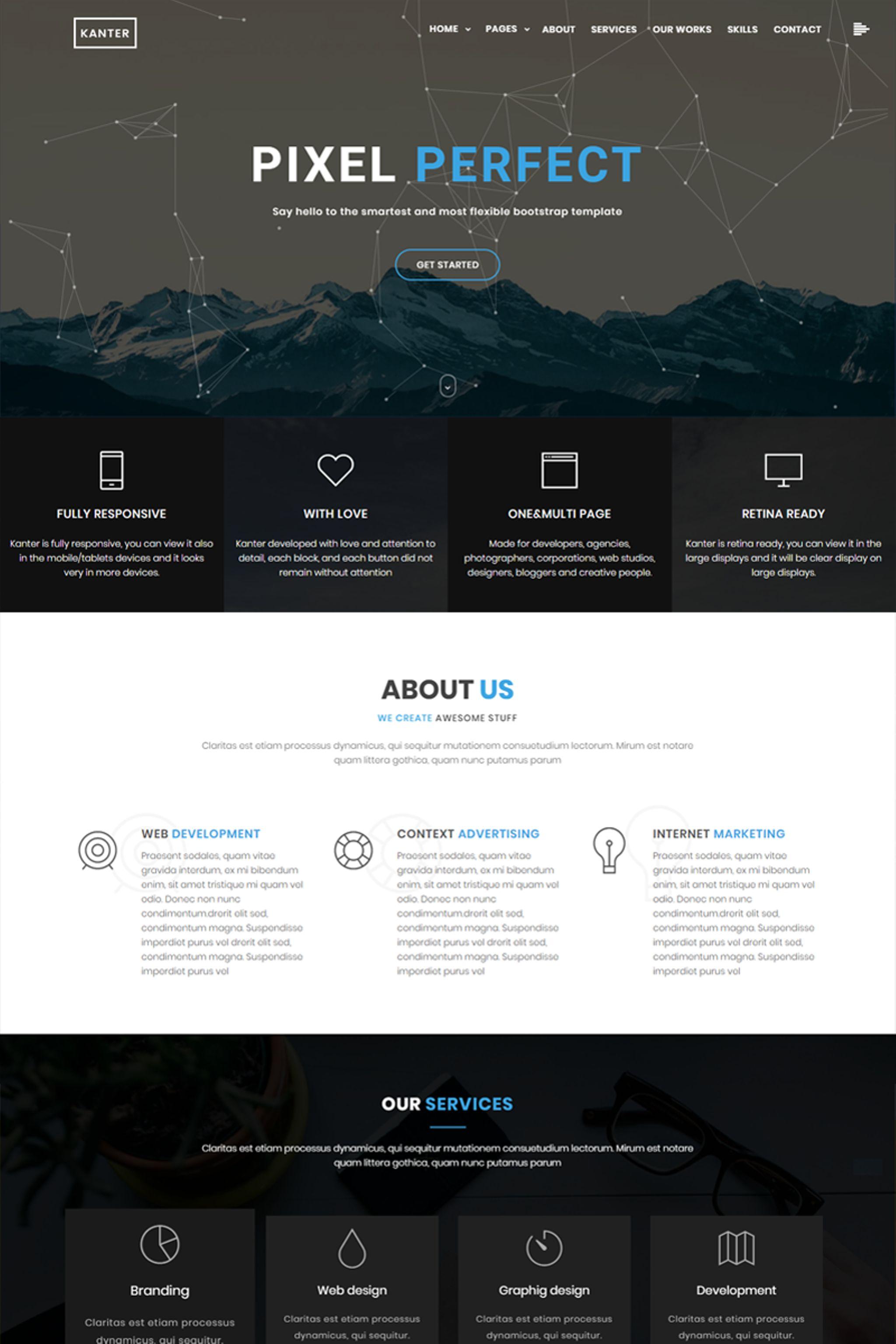 Kanter Creative Responsive Minimalistic HTML Website Template - Graphic design website templates