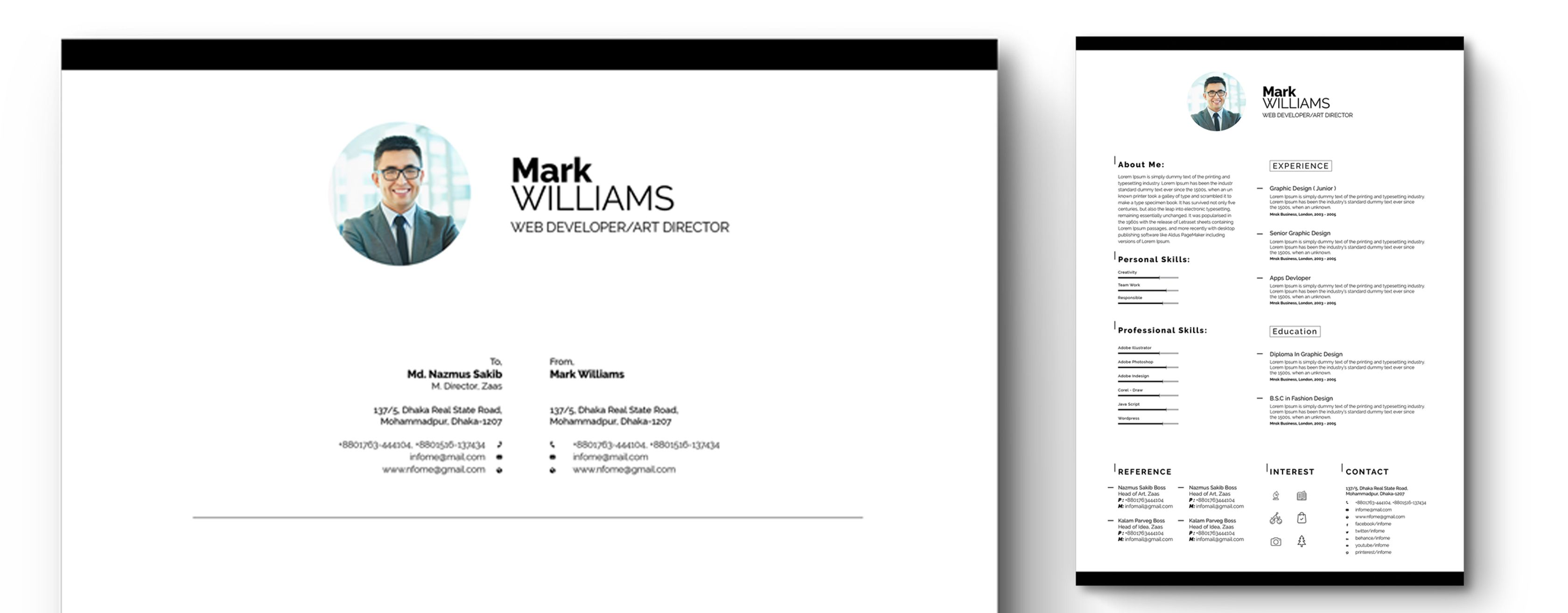 minimal resume/cv resume template #65318