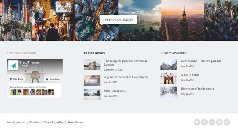Tema de WordPress #65640 para Sitio de Páginas personales