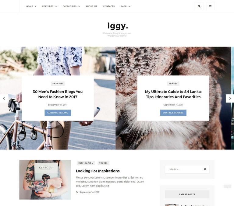WordPress Theme #65433 für Mode-Blog