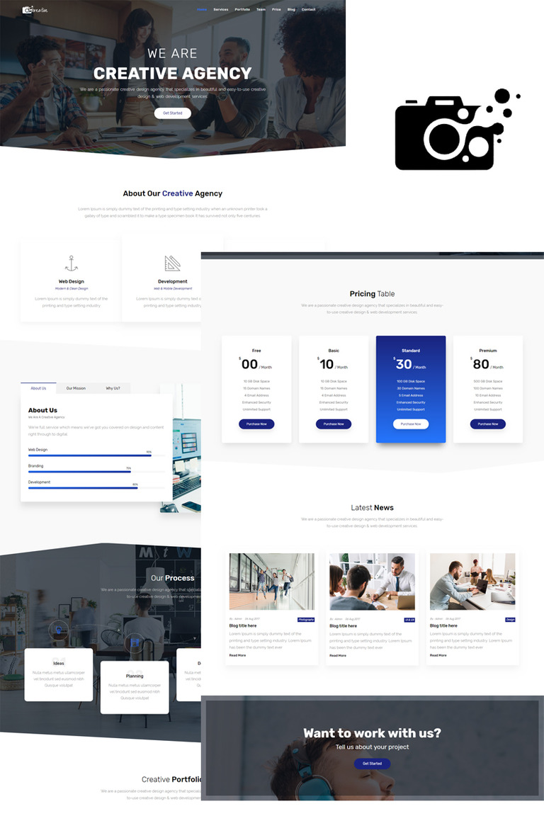 Creative agency one page html5 template landing page template 73565 creative agency one page html5 template landing page template big screenshot maxwellsz
