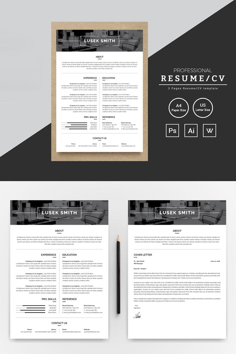 Lusek Smith Graphic Designer Resume Template 73647