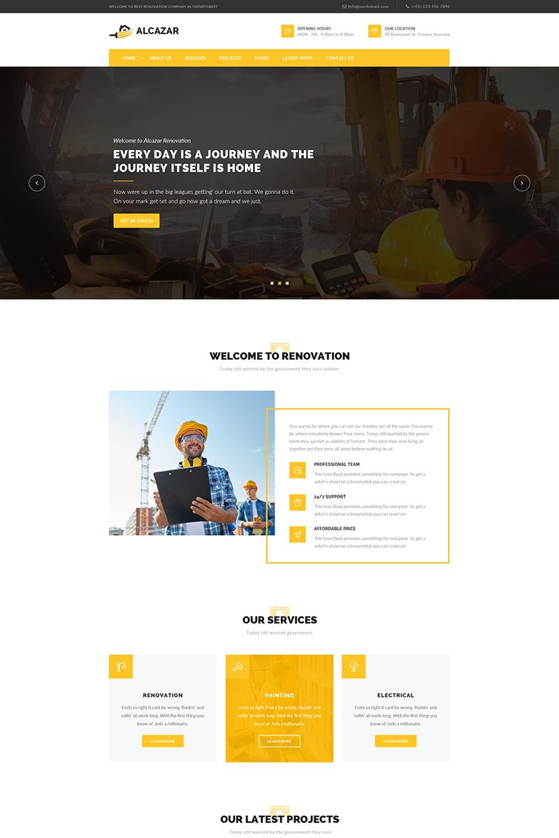 Адаптивный шаблон сайта на тему строительные компании #65728