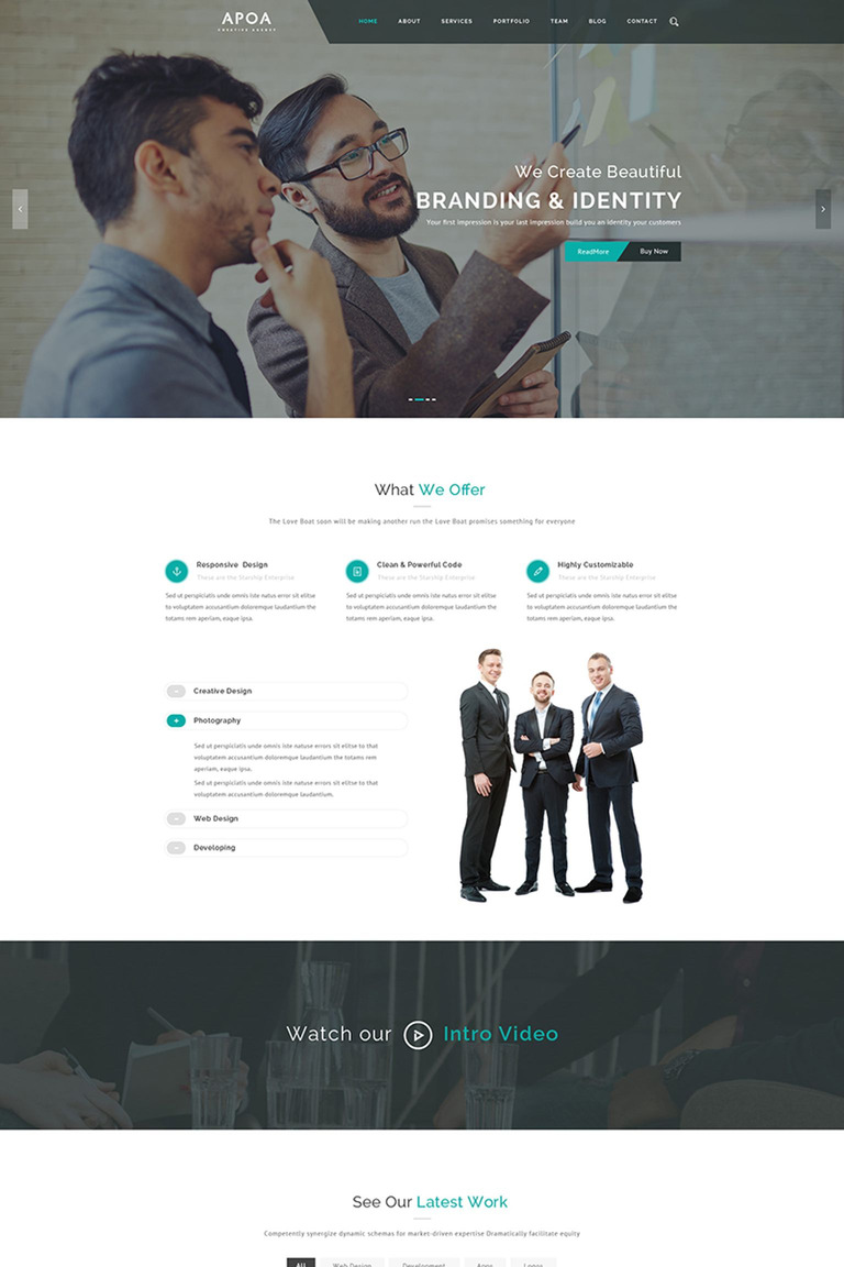 Apoa - Business WordPress Theme Big Screenshot