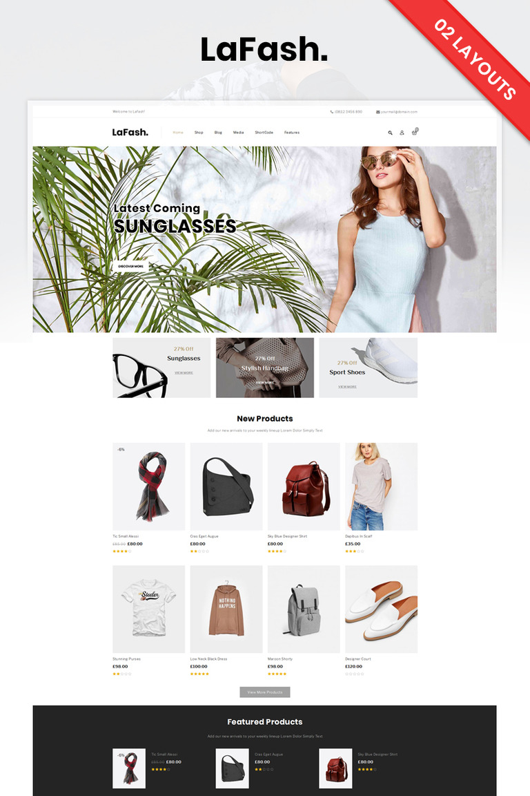 LaFash Fashion Store WooCommerce Theme