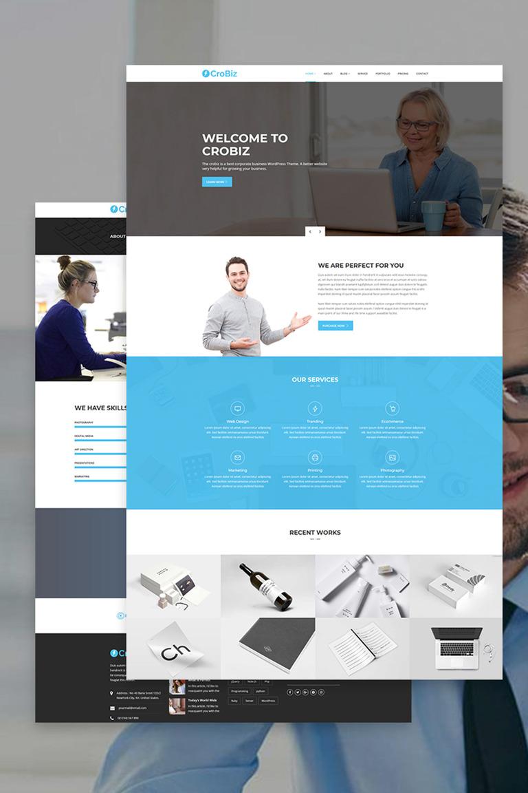 Crobiz - Corporate WordPress Theme #67221