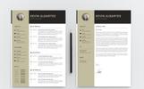 Kevin Albartes Modern Resume Template