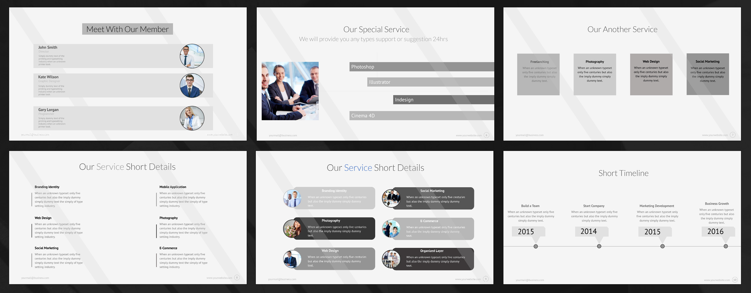it powerpoint template #65443, Modern powerpoint