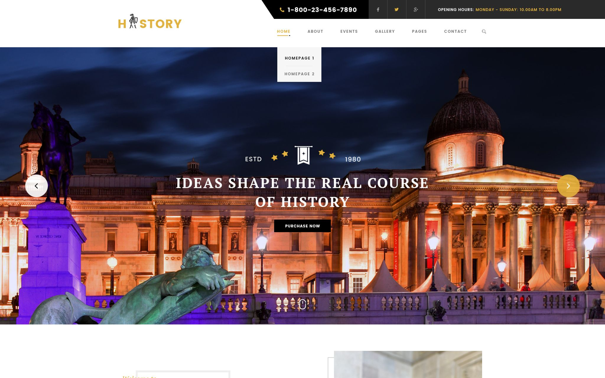 history museum amp archeology wordpress theme 65687