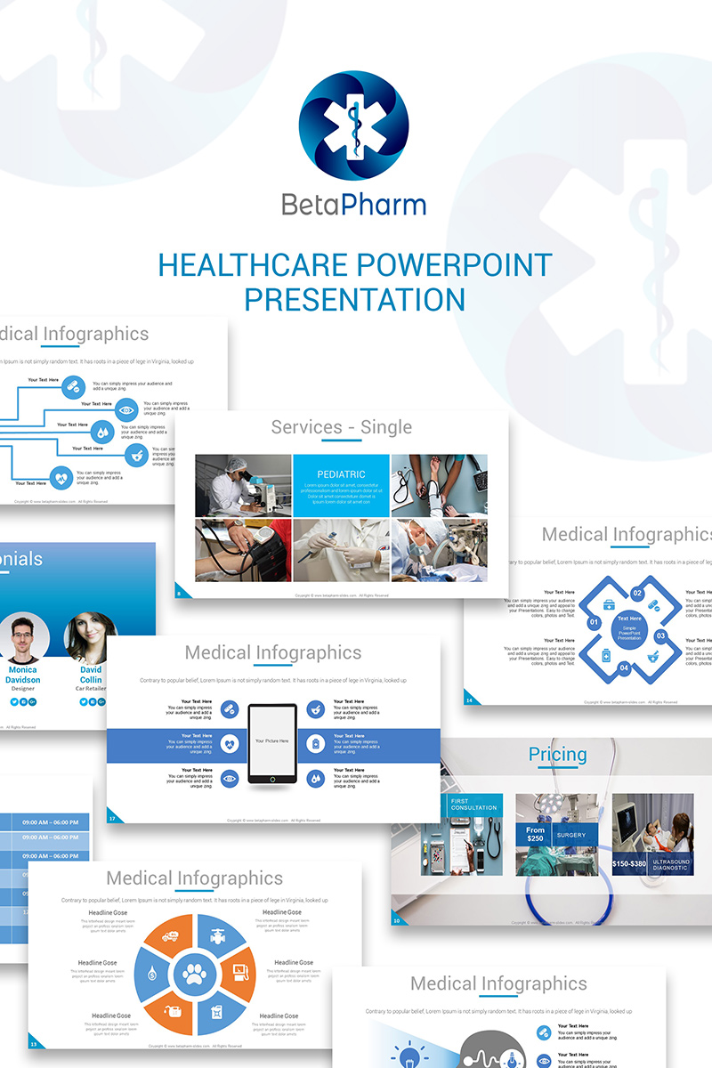 betapharm healthcare ppt slides powerpoint template 73809