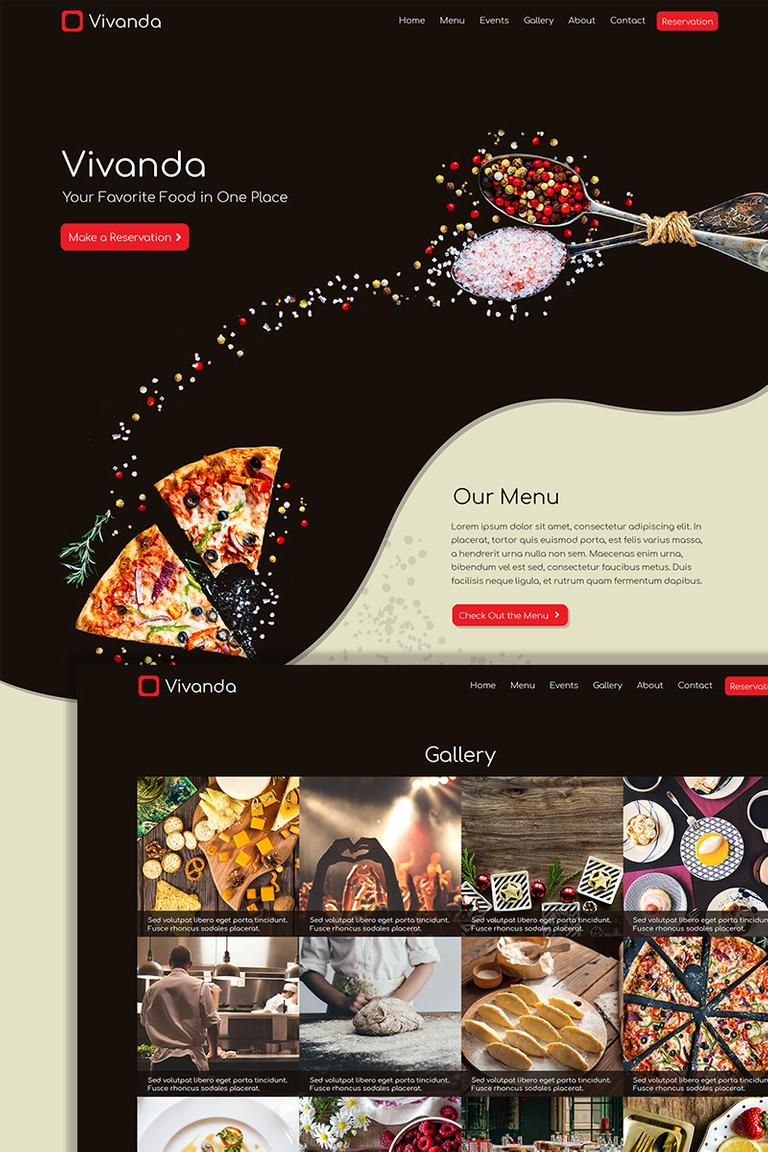 Vivanda Responsive Html Restaurant Website Template 74063