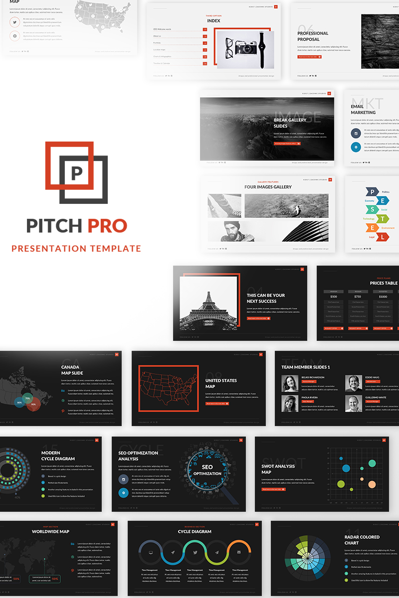 Pitch Pro Keynote Template #67566