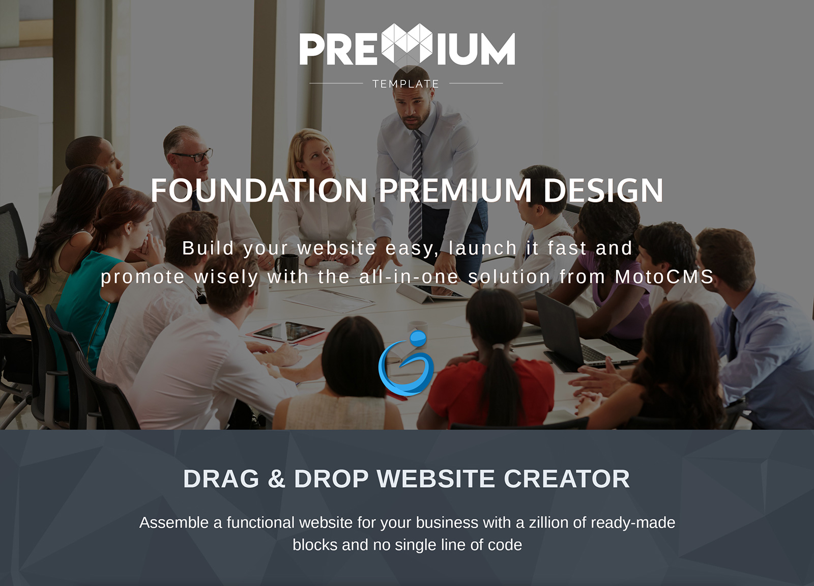 Humanity - Foundation Moto CMS 3 Template