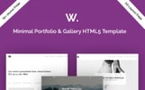 Warrior-Minimal Portfolio & Gallery Website Template