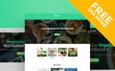 Ready-made Website för  vegetarisk restaurang