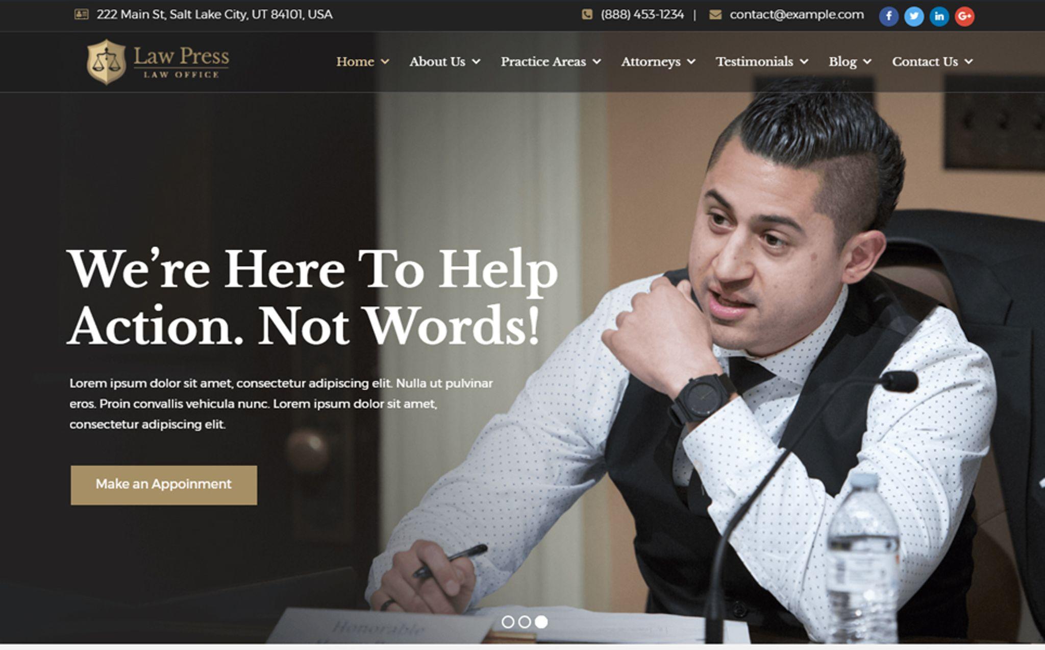 LawPress - Law Agency WordPress Theme #65449